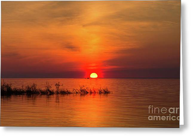 Sunset Over Lake Michigan Greeting Card