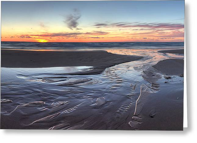 Sunset Over Lake Michigan Greeting Card by Twenty Two North Photography
