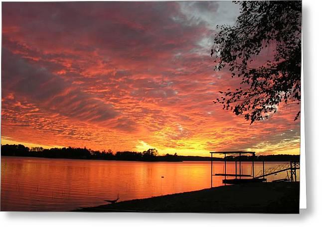 Sunset Over Lake Murray Greeting Card