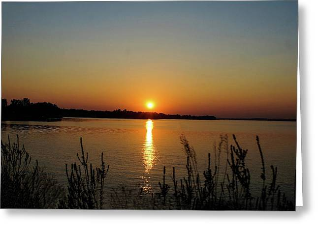 Sunset Over Lake Norman Greeting Card
