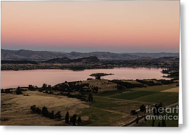 Sunset Over Lake Wanaka In New Zealand Greeting Card
