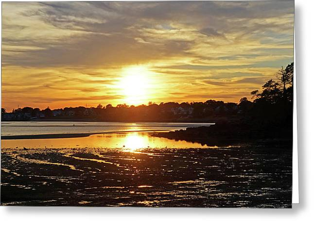 Sunset Over Lynch Park Beverly Ma Greeting Card