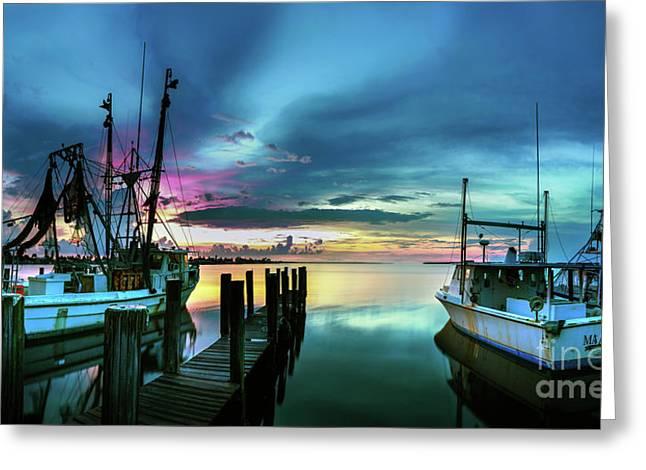 Sunset Over Matlacha Florida Greeting Card