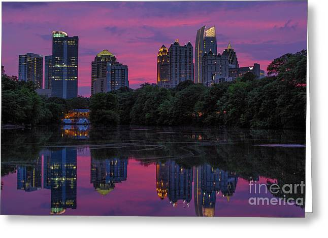 Sunset Over Midtown Greeting Card
