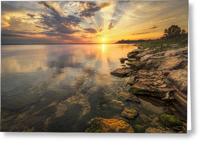 Sunset Over Milford Lake Greeting Card