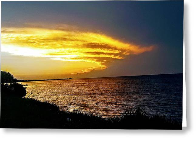 Sunset Over Mobile Bay Greeting Card