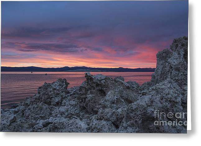 Greeting Card featuring the photograph Sunset Over Mono Lake by Sandra Bronstein