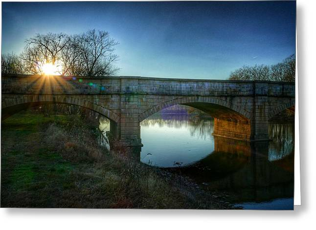Sunset Over Monocacy Greeting Card