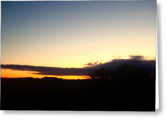 Sunset Over Oxford Greeting Card by Marcia Crispino
