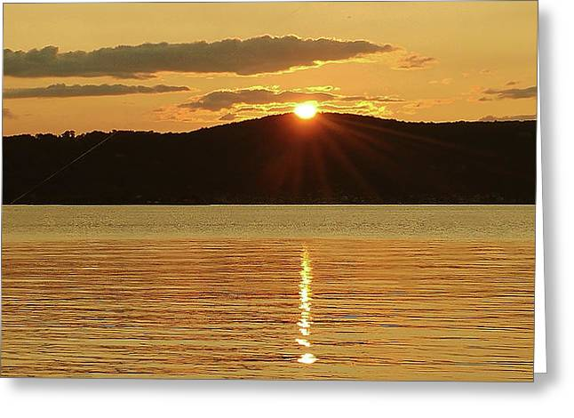 Sunset Over Piermont Greeting Card