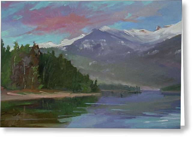 Sunset Over Priest Lake, Id Greeting Card