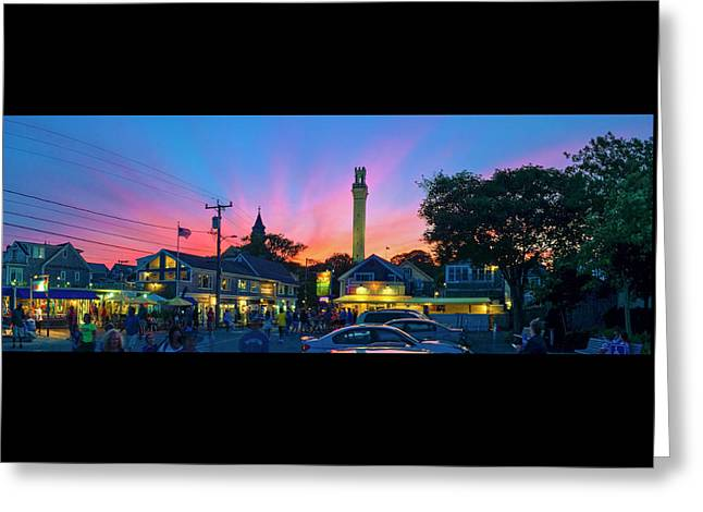 Sunset Over Provincetown - July 4, 2016 Greeting Card by Ben Hughes