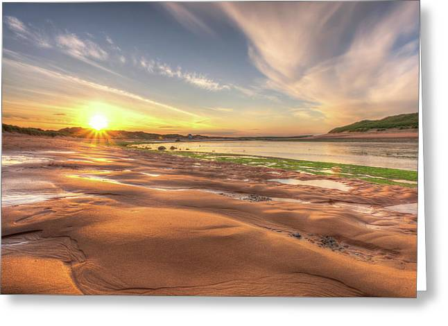 Sunset Over River Ythan Greeting Card