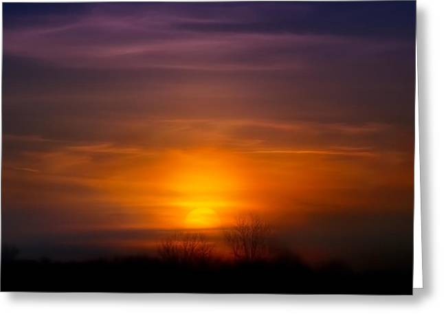 Sunset Over Scuppernong Springs Greeting Card