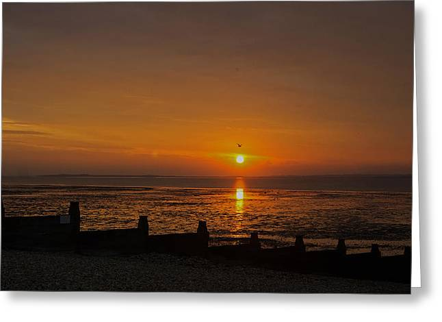 Sunset Over Sheppey 2 Greeting Card by Simon Kennedy
