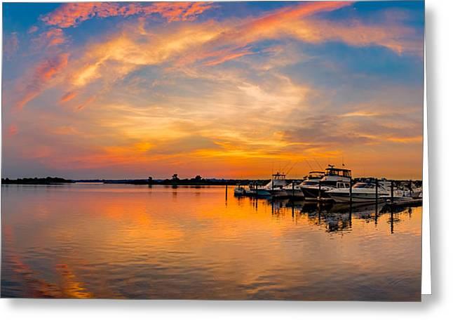 Sunset Over Shrewsbury Bay Greeting Card