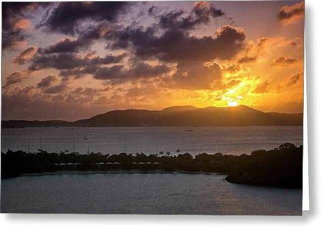 Greeting Card featuring the photograph Sunset Over St. Thomas by Adam Romanowicz