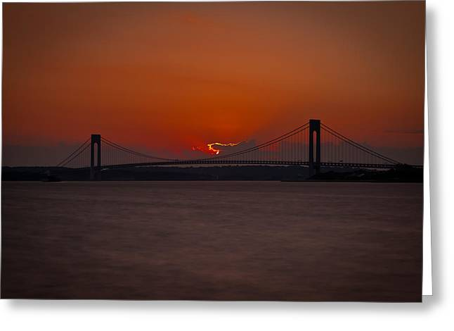 Sunset Over Staten Island Greeting Card