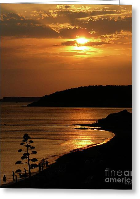 Ebsq Greeting Cards - Sunset over Sto. Tomas Greeting Card by Dee Flouton