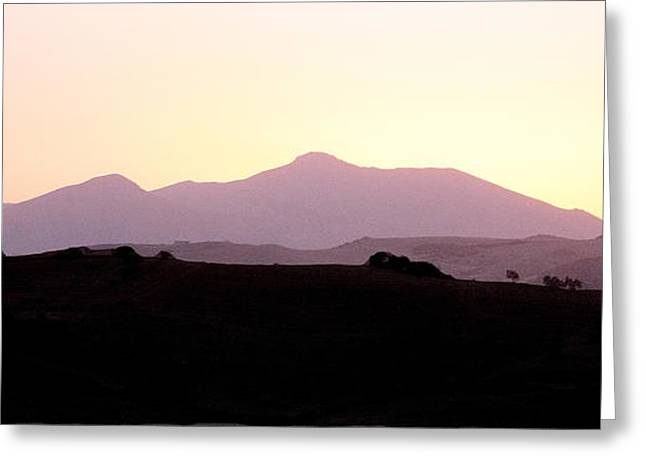 Sunset Over The Andalucian Mountains Near Villanueva De La Concepcion Greeting Card