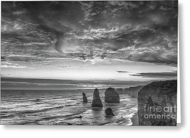 Sunset Over The Apostles Greeting Card by Howard Ferrier