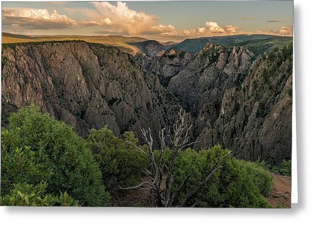 Sunset Over The Black Canyon Greeting Card by Loree Johnson