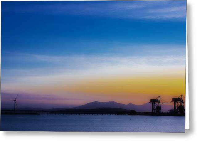 Sunset Over The Clyde Greeting Card