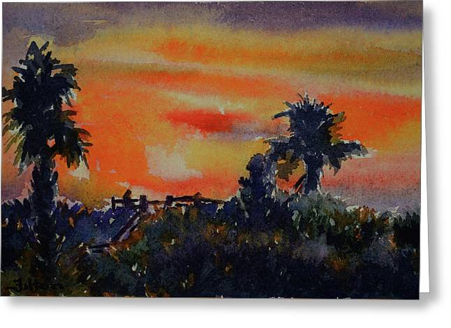 Sunset Over The Dunes 7-10-17 Greeting Card