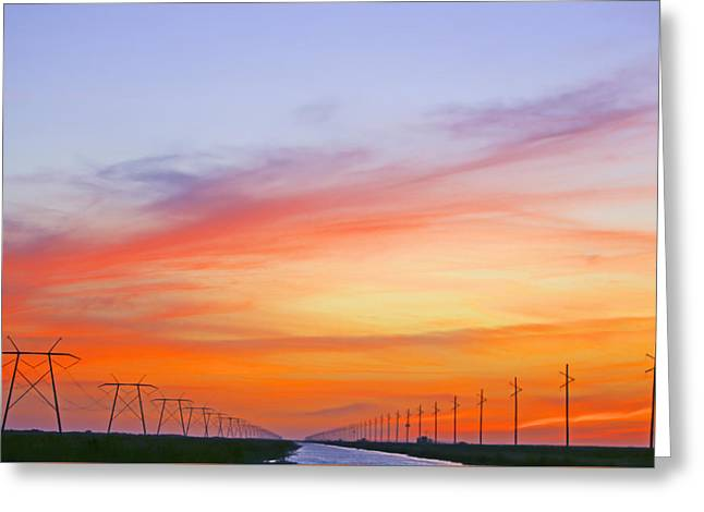 Sunset Over The Glades Greeting Card
