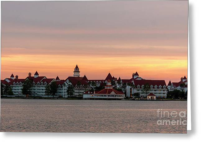 Sunset Over The Grand Floridian Greeting Card