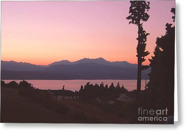 Sunset Over The Hood Canal In Washington State Greeting Card by Terri Thompson