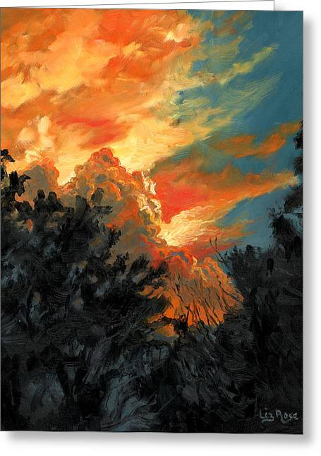 Sunset Over The Little Wekiva Greeting Card by Liz Rose