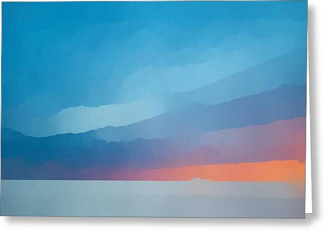 Sunset Over The Ocean Greeting Card by Edward Fielding