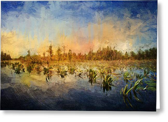 Sunset Over The Okefenokee Greeting Card