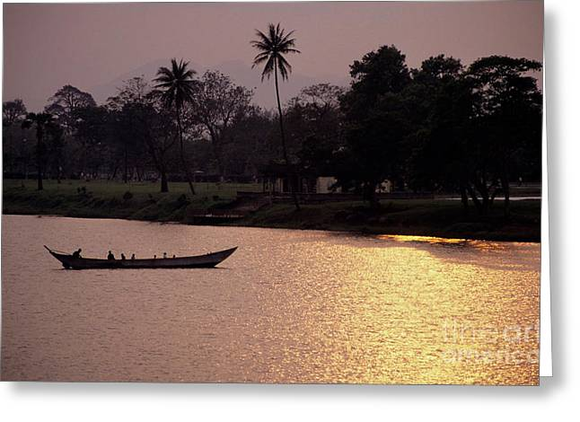 Sunset Over The Perfume River Greeting Card by Sami Sarkis