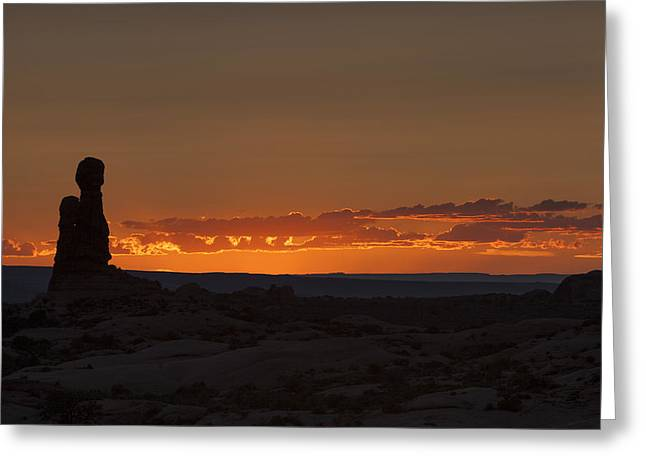 Sunset Over The Petrified Dunes Greeting Card