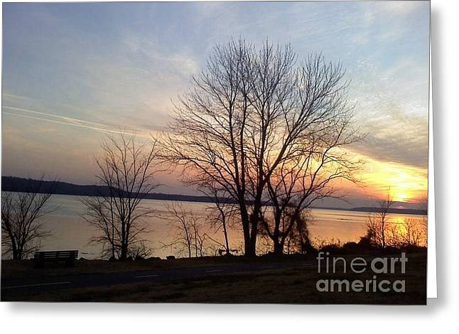 Sunset Over The Potomac Greeting Card