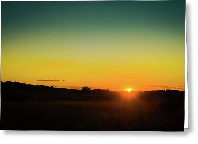 Sunset Over The Prairie Greeting Card
