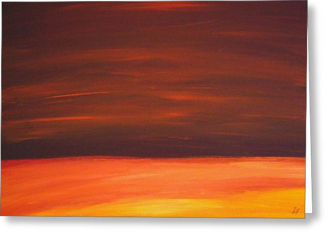 Sunset Over The Sandhills Greeting Card by Leonard Frederick