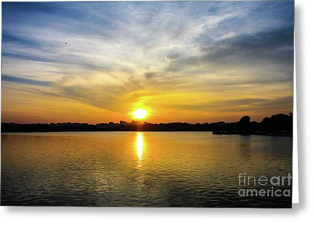 Sunset Over The Tidal Basin Greeting Card