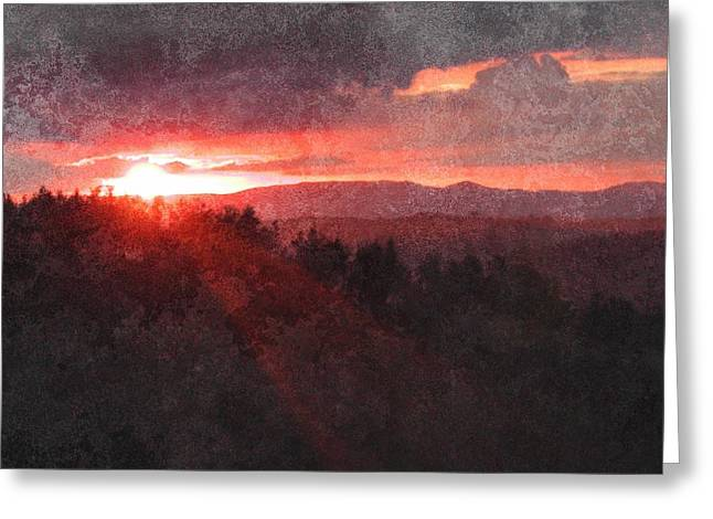 Sunset Over Umbria Greeting Card by Dorothy Berry-Lound