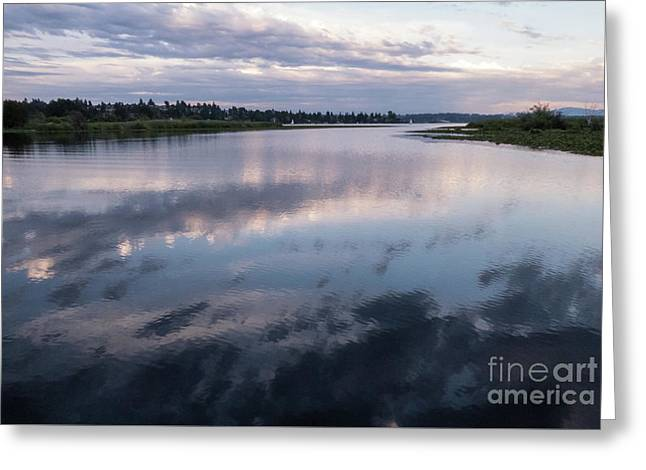 Sunset Over Union Bay  Greeting Card