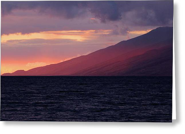 Sunset Over West Maui Greeting Card