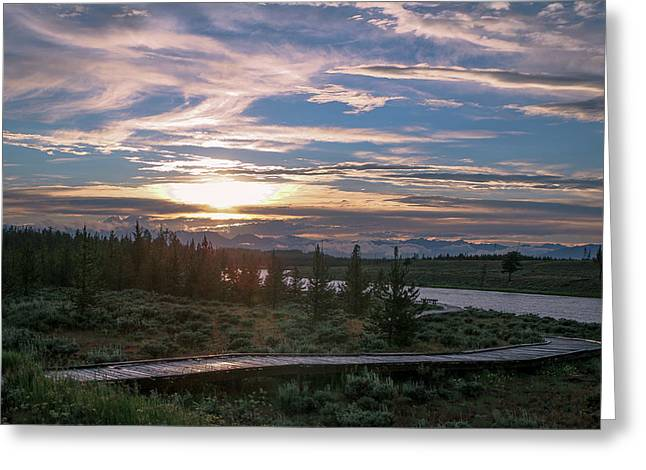 Sunset Over West Yellowstone Greeting Card