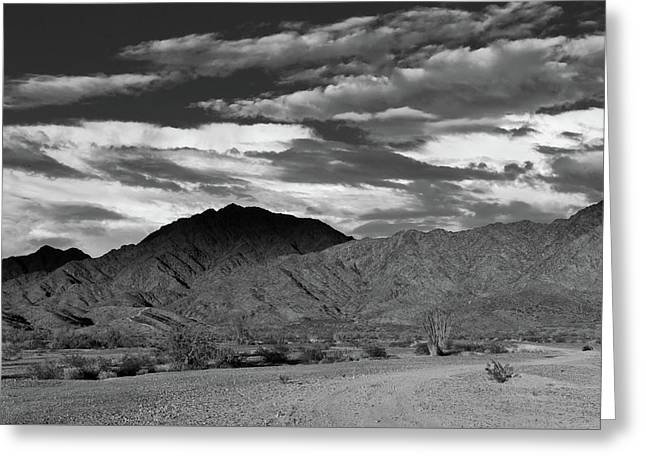 Sunset Over Yuma Mountain Greeting Card