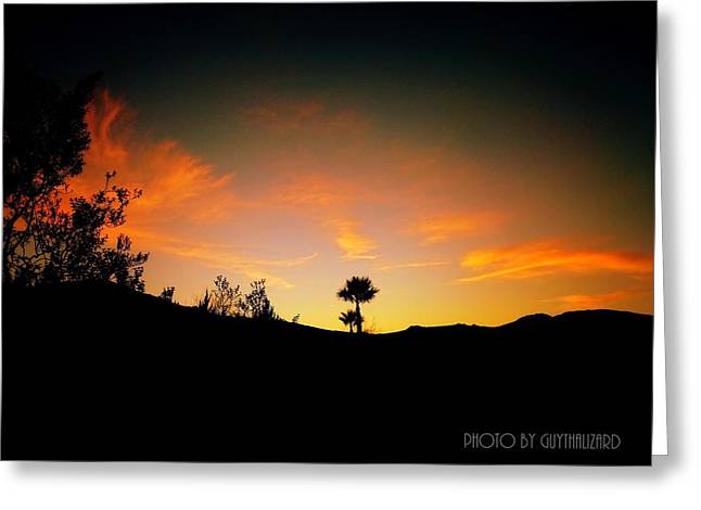 Sunset - Palm Mountain Greeting Card