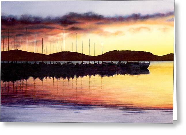 Sunset Panorama Left Side Greeting Card