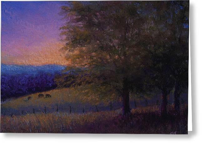 Sunset Pasture Greeting Card