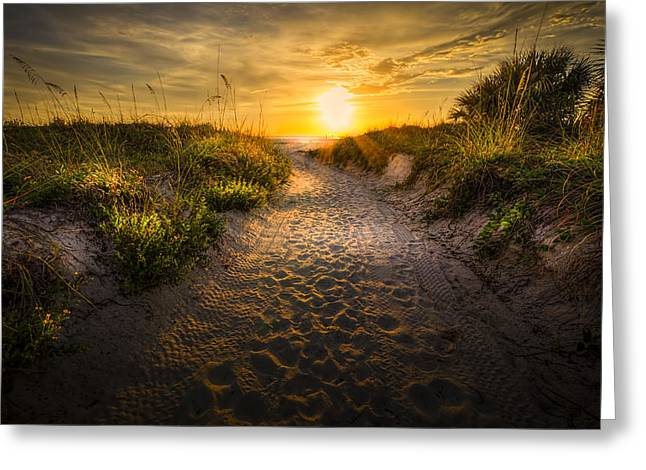 Sunset Path Greeting Card by Marvin Spates