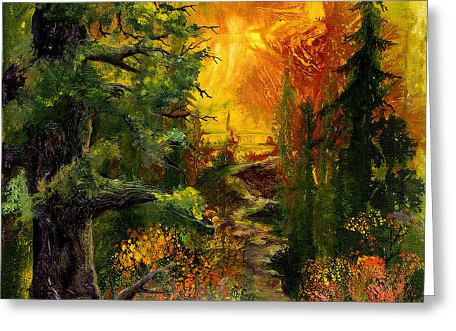 Sunset Path Greeting Card